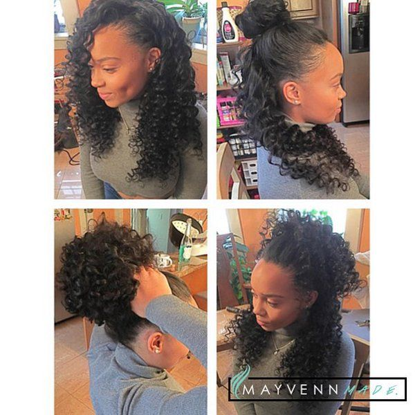 Partial Sew In With Mayvenn Curly Hair