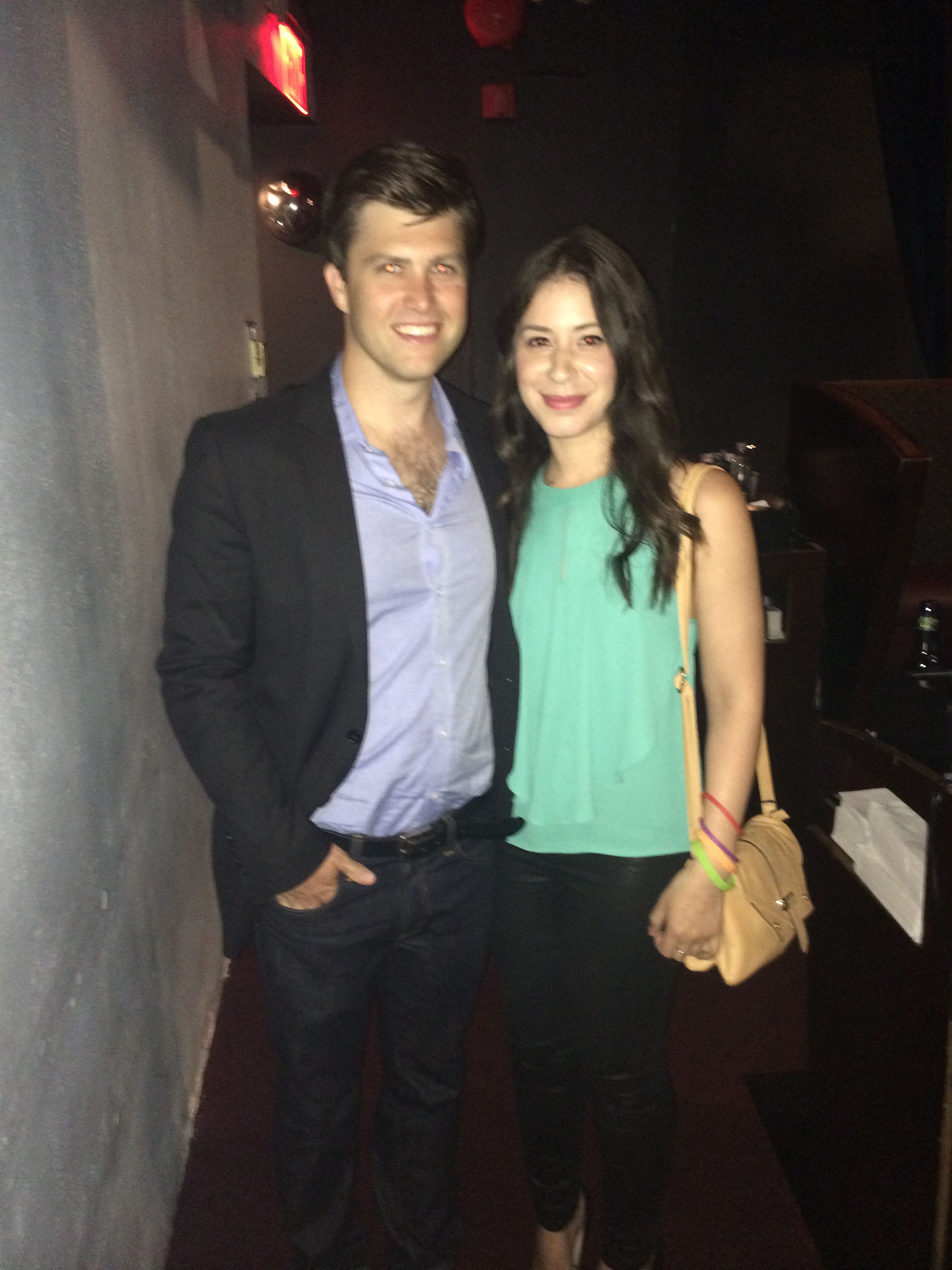 Colin jost i at carolines on broadway with images