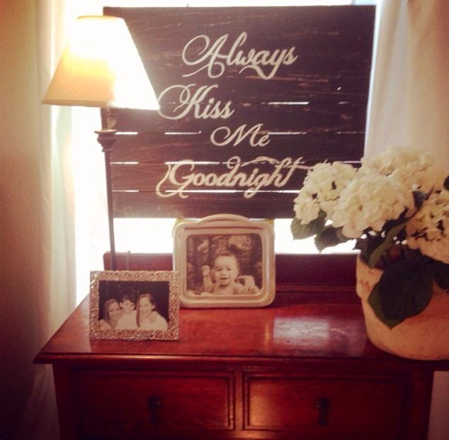 custom barnwood frames sign always kiss me goodnight black wwwcustombarnwoodframing