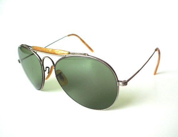 Pair of Vintage Aviator Sunglasses by PoorLittleRobin