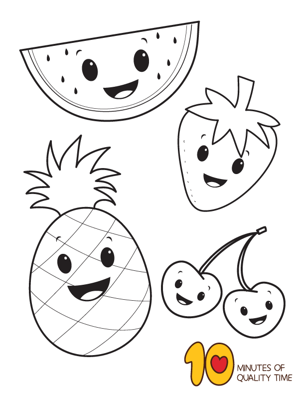 Fruit Coloring Page Fruit Coloring Pages Cute Coloring Pages Preschool Coloring Pages