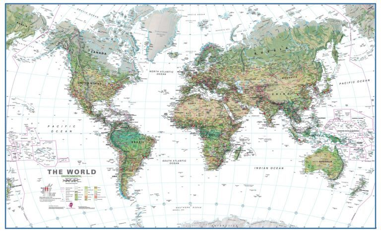 Buy World Map Vinyl Cheap Posters Collection Of Maps Inside ...