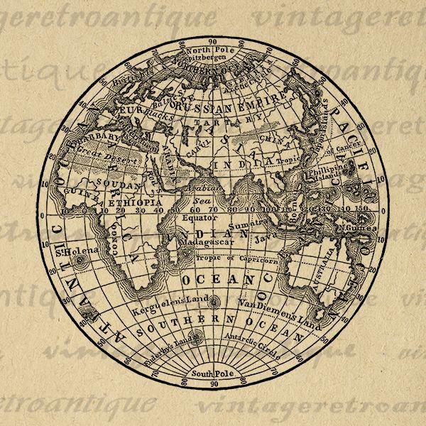 Printable globe digital image antique earth globe map image clipart printable globe digital image antique earth globe map image clipart vintage eastern hemisphere graphic art jpg png eps print 300dpi no3572 vinta gumiabroncs Images