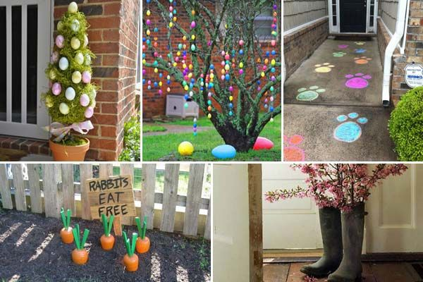 Cool Outdoor Decorations Ideas 29 Cool Diy Outdoor Easter Decorating Ideas Easter Decorations Outdoor Outdoor Easter Decorations Diy Easter Diy