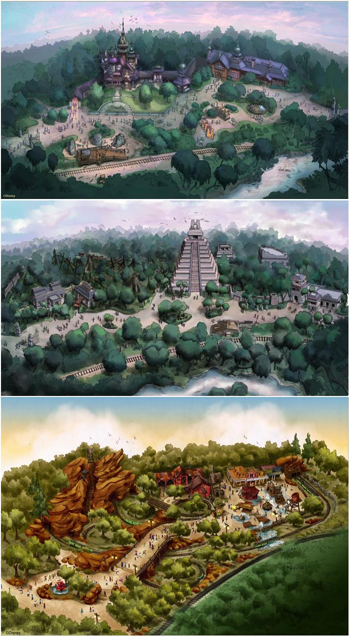 Hong Kong Disneyland Concept Art is part of Disney concept art -