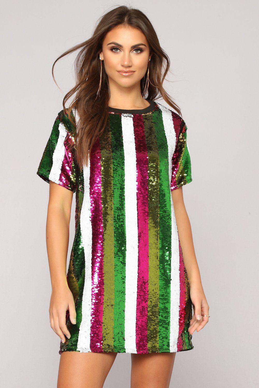 a86cf8cbf5d7f1 Zany Sequin Tunic - Multi | clothes → dresses | Sequin tunic, Tunic ...