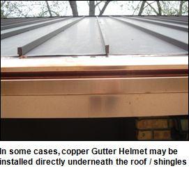 Copper Gutter Systems & Downspouts | Titan Gutters | Copper Gutter Helmet & Accessories