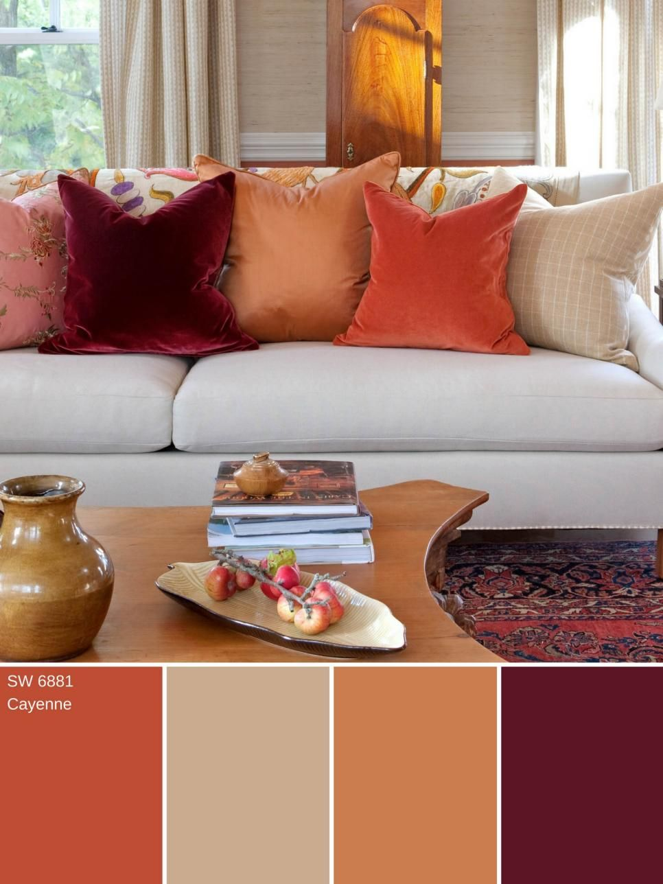 14 Ways To Decorate With Cayenne Orange Color Palette And