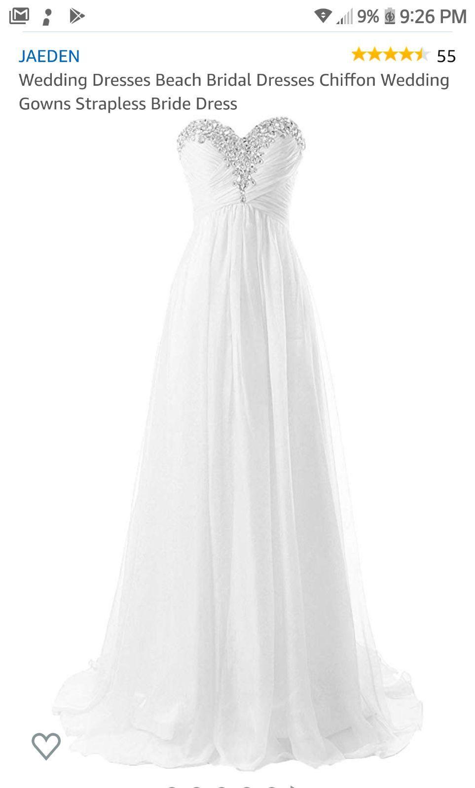 JAEDEN Wedding Dresses Beach Bridal Dresses Chiffon Wedding Gowns Strapless Bride Dress