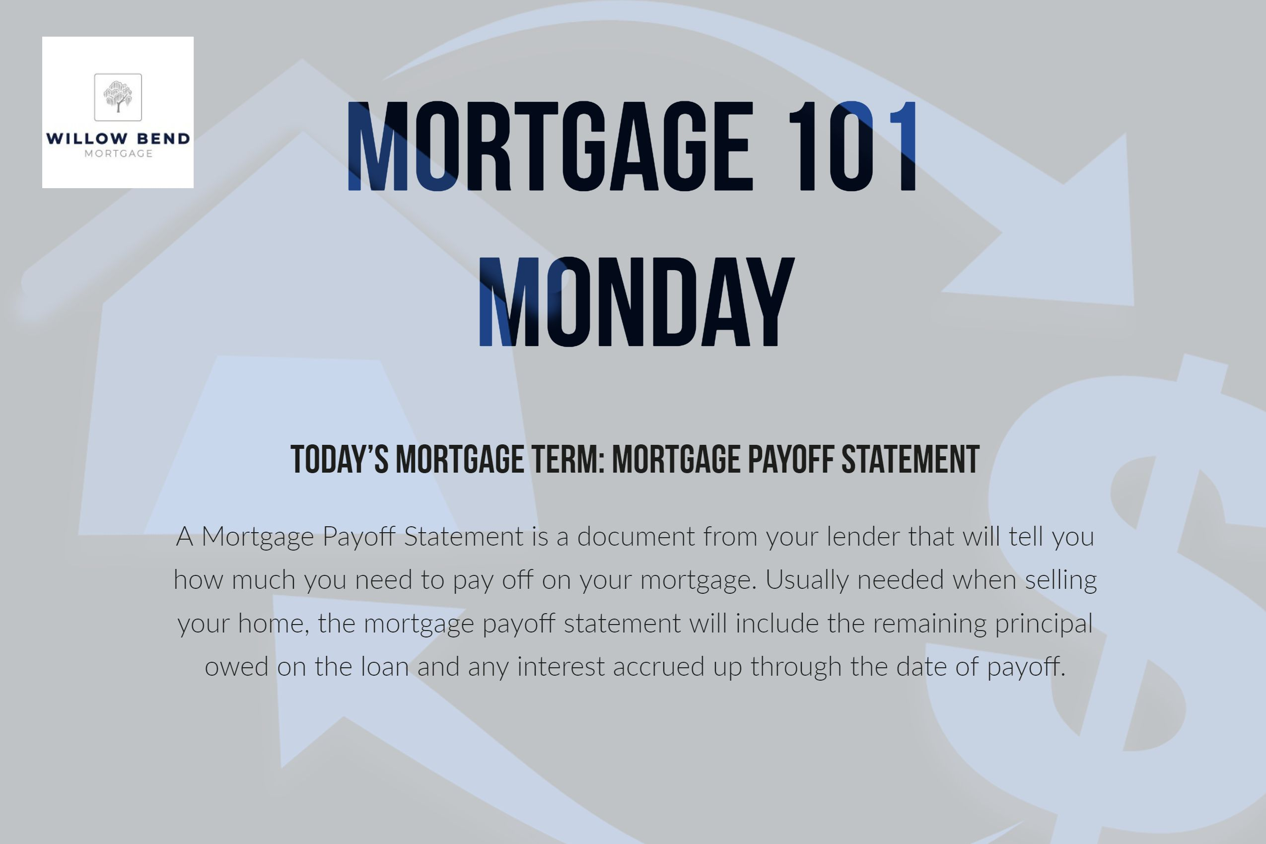 Mortgage 101 Monday Is Upon Us Once Again Where Our Goal Is To Assist You In Understanding Mortgage T