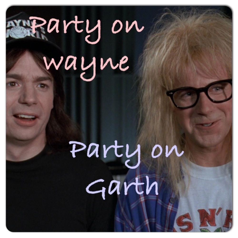 Party on Wayne party on Garth - Wayne's world