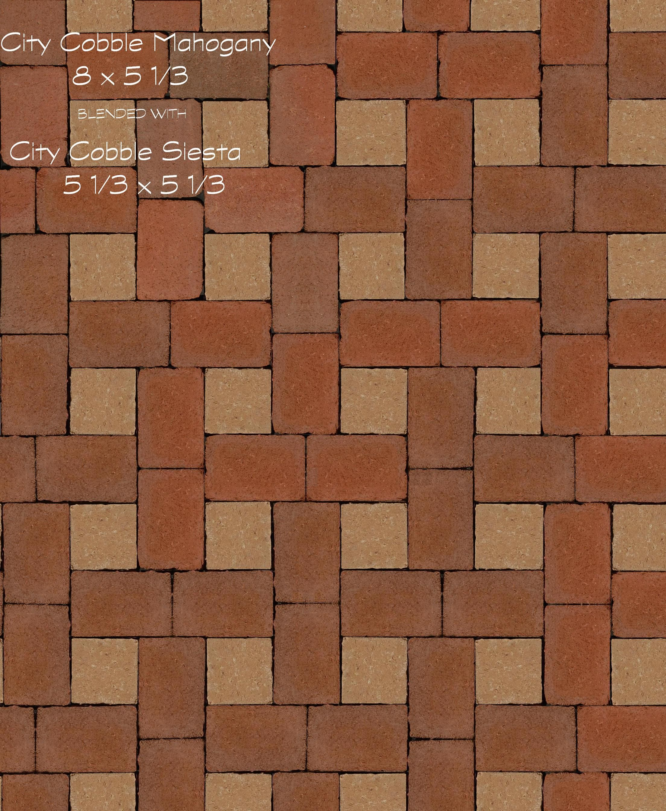 Brick Paver Patterns City Cobble And Siesta Paver Pattern Made With Pine Hall Brick