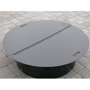139 Round Steel Fire Pit Cover Snuffer Fire Pit Plans Steel Fire Pit Fire Pit Furniture