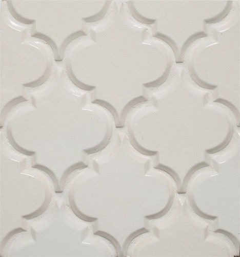 Beveled Arabesque Tile eclectic kitchen tile - possible boarder shape for blue
