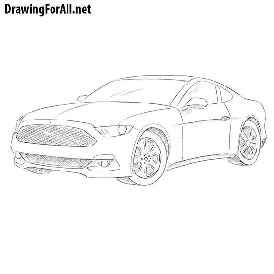 How To Draw A Ford Mustang In 2020 Mustang Drawing Car Drawings