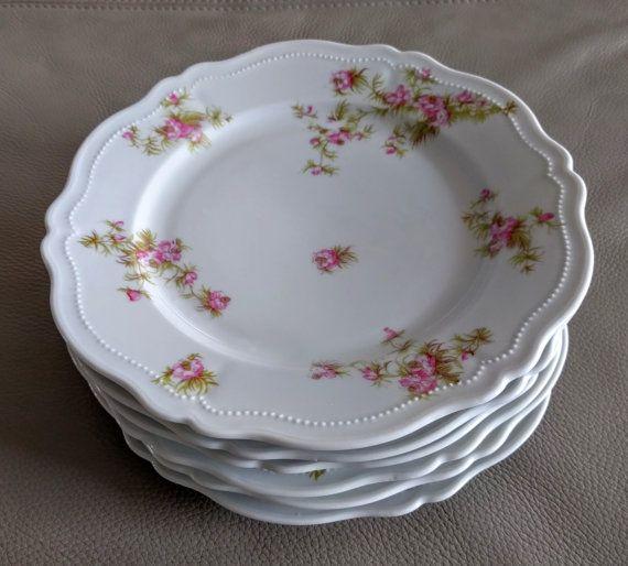 Vintage porcelain transferware plates by Oscar and Edgar Gutherz Royal Austria…