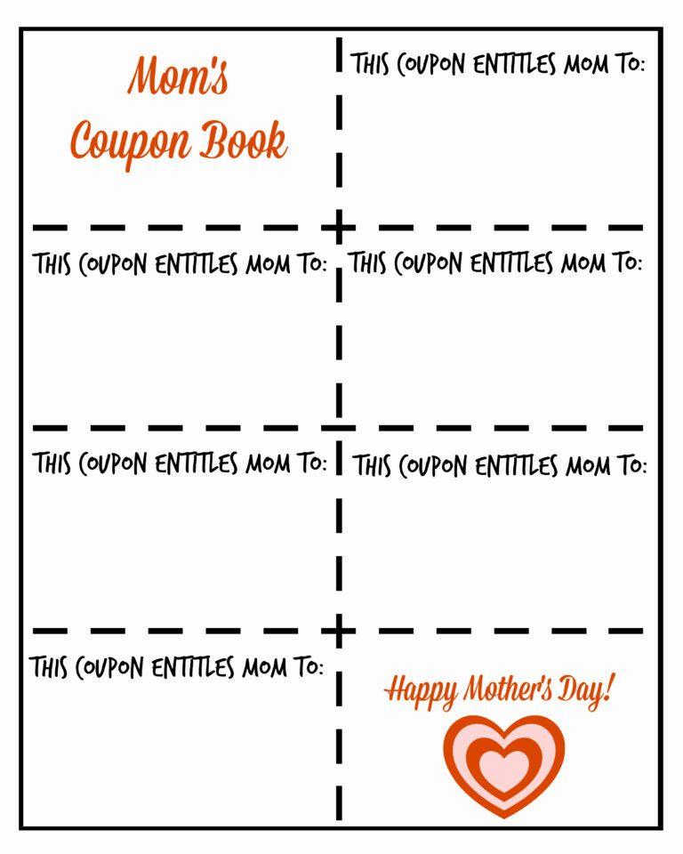 035 Blank Coupon Template Free Printable Exceptional Ideas With Regard To Blank Coupon Template Printable Coupon Template Coupon Book Mother S Day Printables