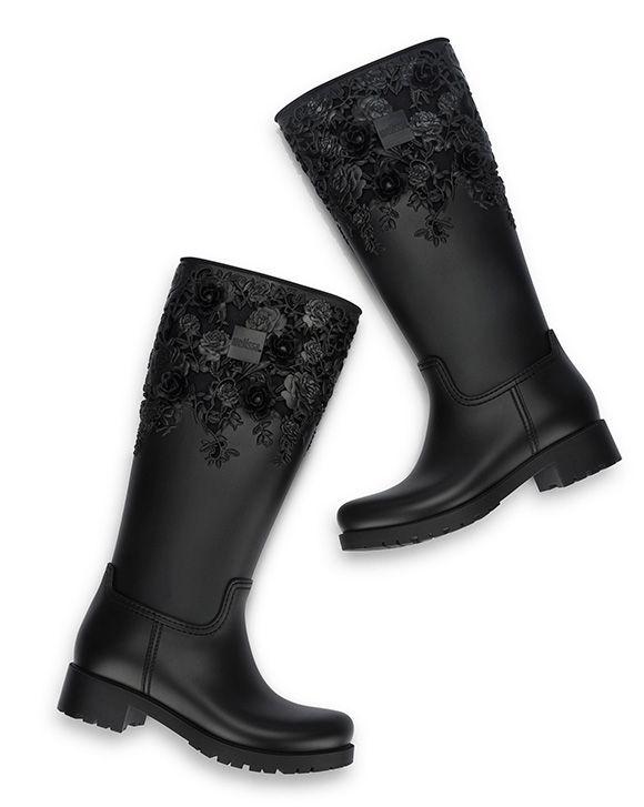 70ec2f8b36e Melissa Flower Boot High Sapatos