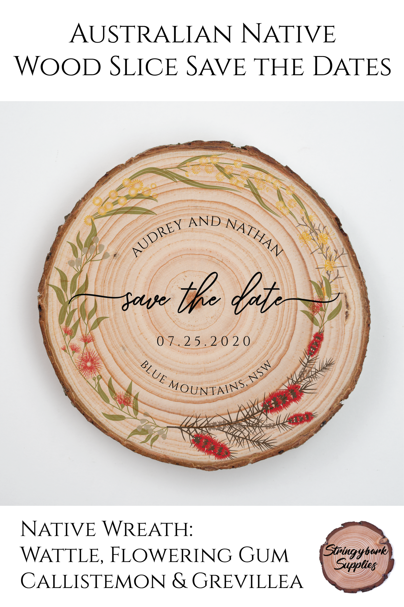 Australian Floral Save The Date (With images