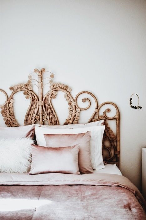 Rattan Headboard Bedroom Decor Rattan Headboard Home