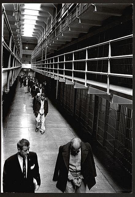 """LAST PRISONERS LEAVE ALCATRAZ"", 1963."