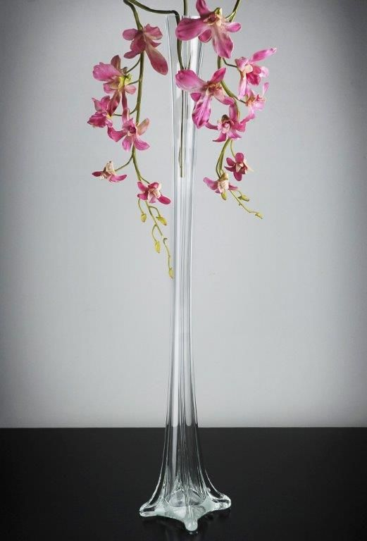 Eiffel Tower Vase 3125in Clear 12 Each Get Frosted Option Put