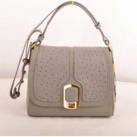 Fendi Anna Ostrich Leather Bag HLF5006