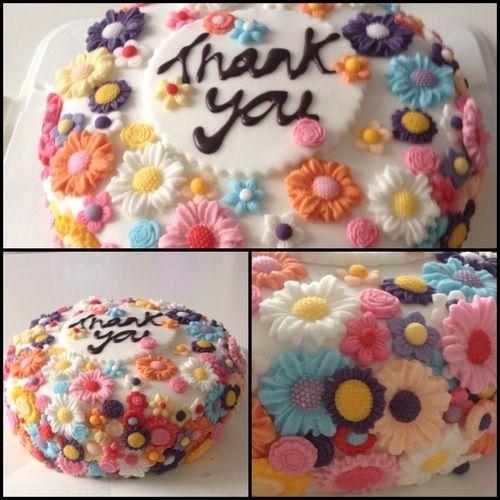 Flower Thank You Cake