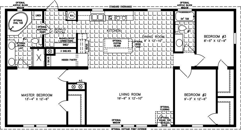 The Imp 45213b Manufactured Home Floor Plan Jacobsen