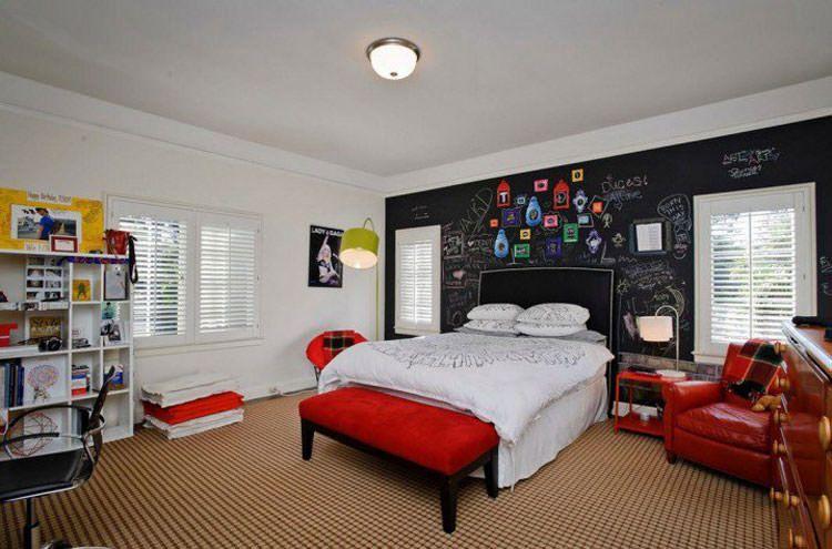 30 camerette per ragazzi con pareti decorate camera for Pitture per camerette ragazzi