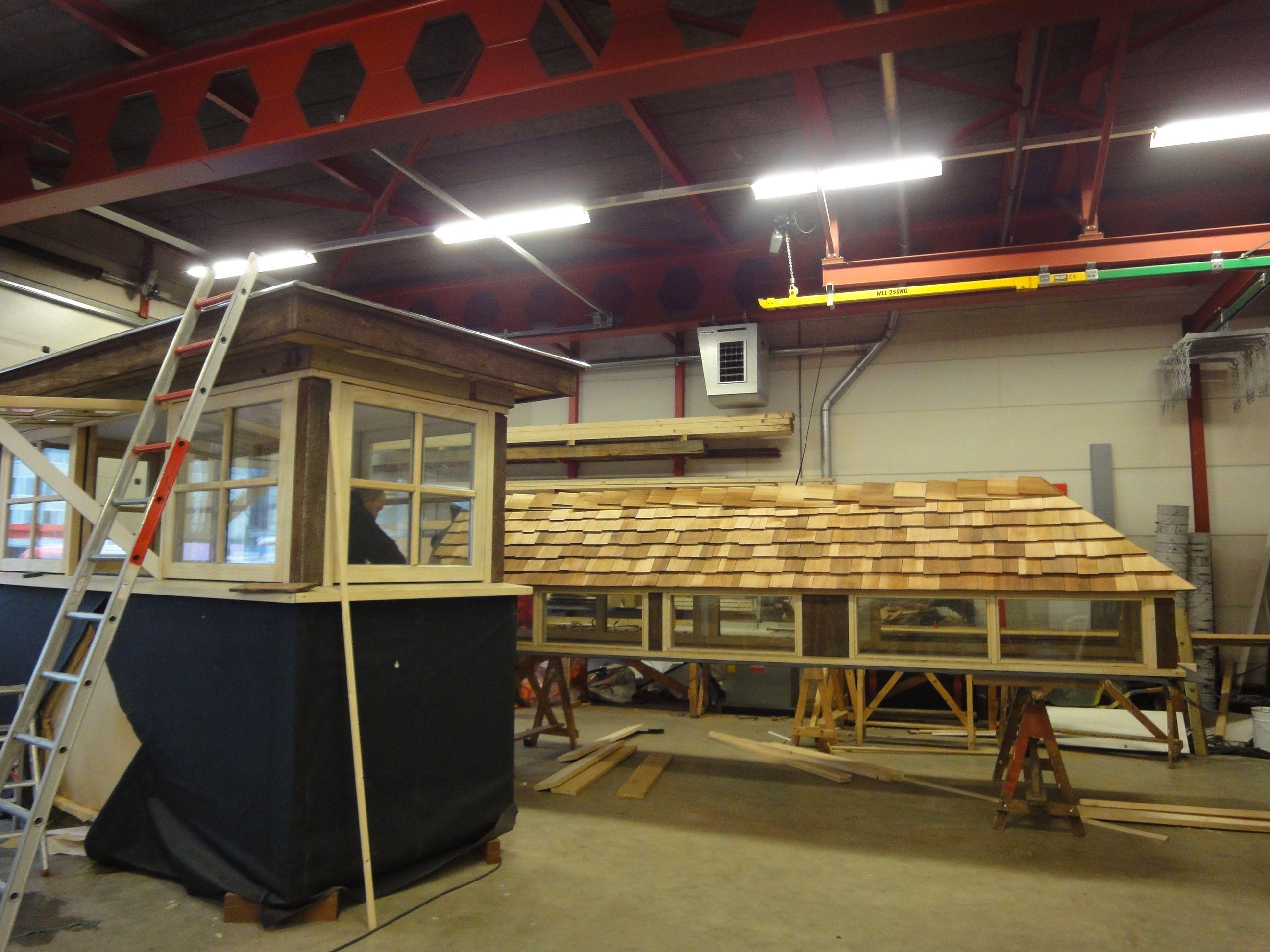 Boomwoning Van Wijnen Recreatiebouw voor Landal Miggelenberg te Hoenderloo - Voorgang bouw