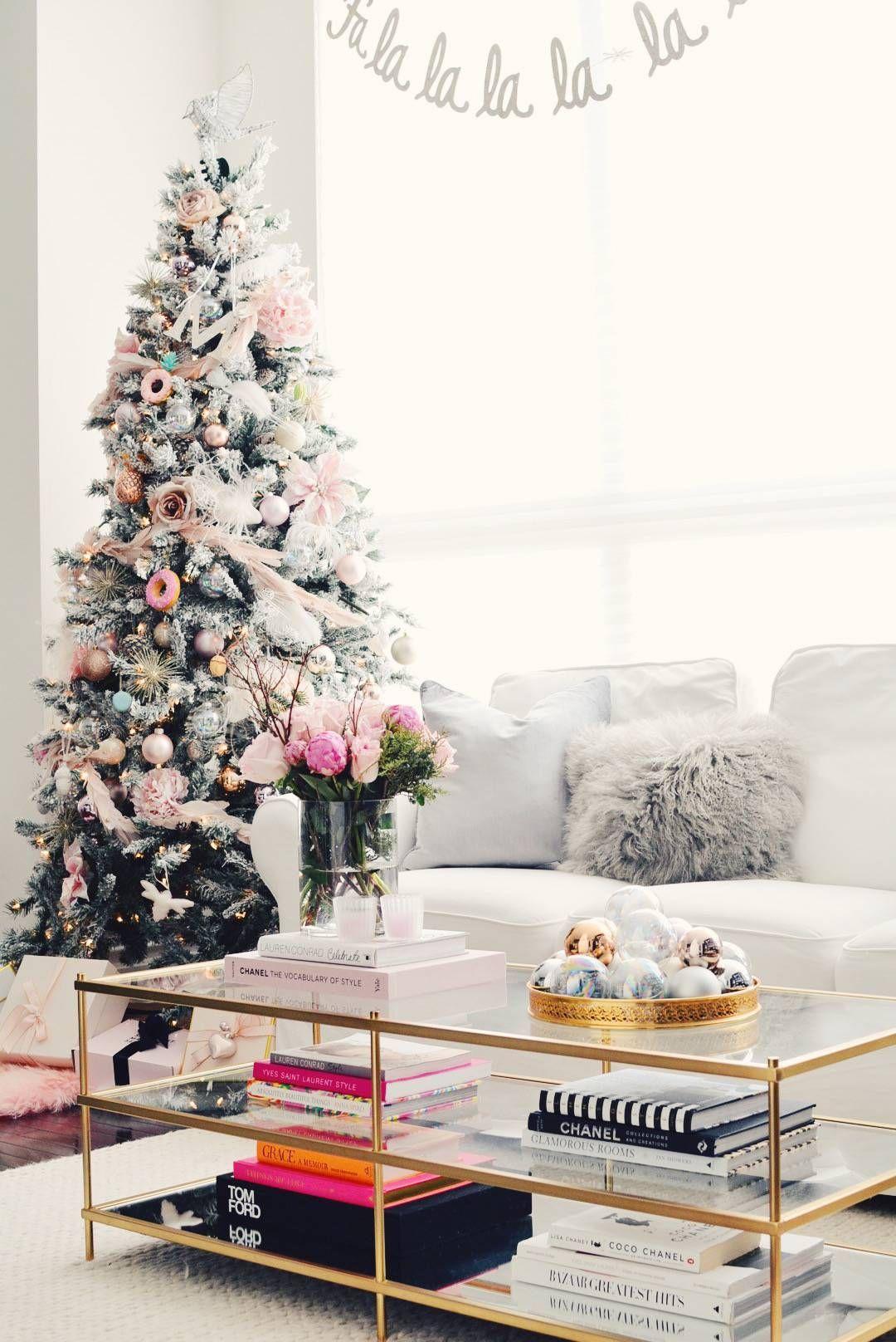 Holiday Home Tour A Pink Christmas