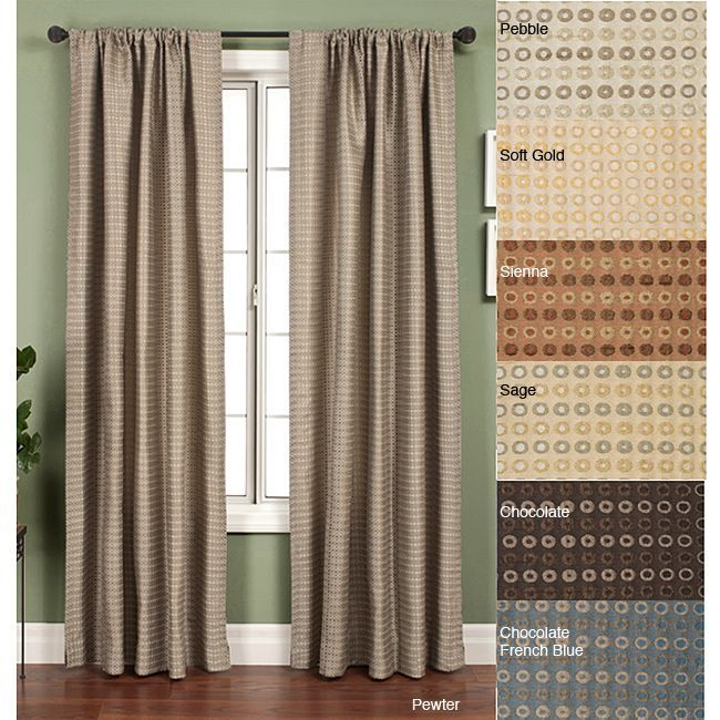 Softline Jaipur Circle Rod Pocket 108 Inch Curtain Panel Soft Gold Size 53 X Polyester Geometric