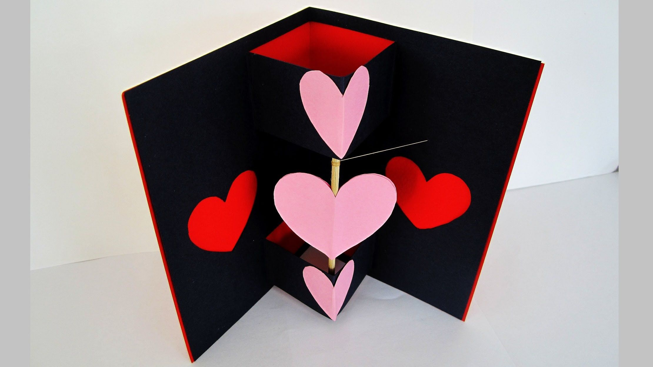 video tutorial how to make handmade Valentine Twirling heart – Birthday Cards You Can Print out
