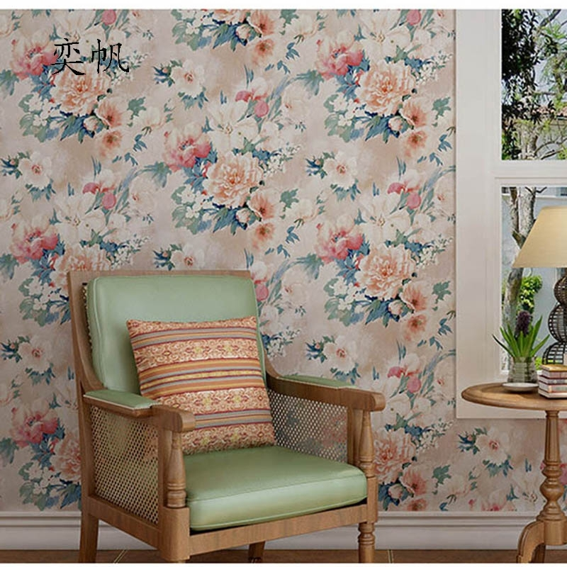 49.90$  Buy here - http://alim9j.shopchina.info/go.php?t=32798839109 - American Village Retro Nostalgic Pastoral Oil Paintings Ink Painting Wallpaper Bedroom Sofa Background Wall Paper Home Decor  #buyonline