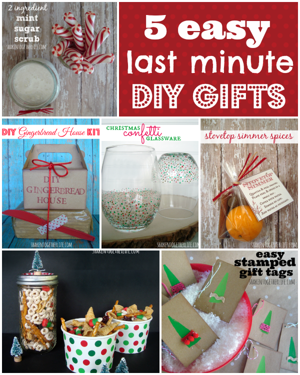 5 Easy Last Minute Gifts To DIY!!