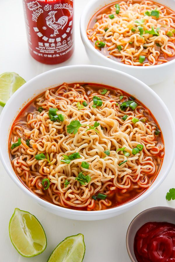 20 Minute Spicy Sriracha Ramen Noodle Soup Video Recipe