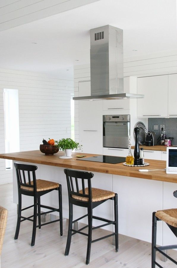 Une belle cuisine avec sièges de bar Cuisines Pinterest Siege