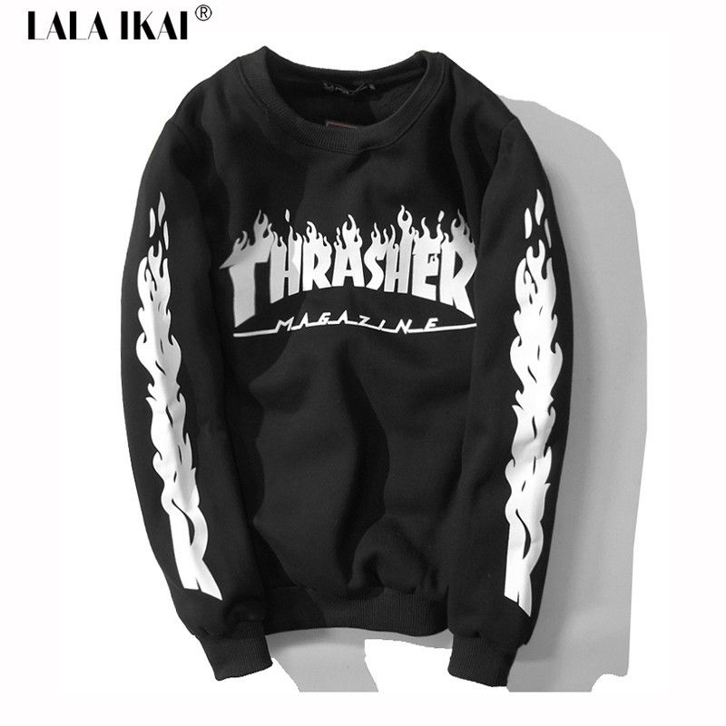 ed1c706160e3 Extremely Trendy Thrasher Hoodies Men Crewneck Swag Hip Hop Mens Hoodies  And Sweatshirts Skate Sports Suit Female 2015 SMR0259-5