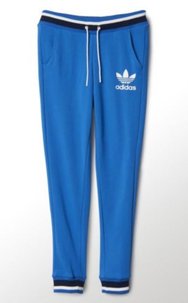 FOR SALE  adidas Originals Womens Classic Trefoil Sweatpants Trousers  Jogger Blue  116ae51608