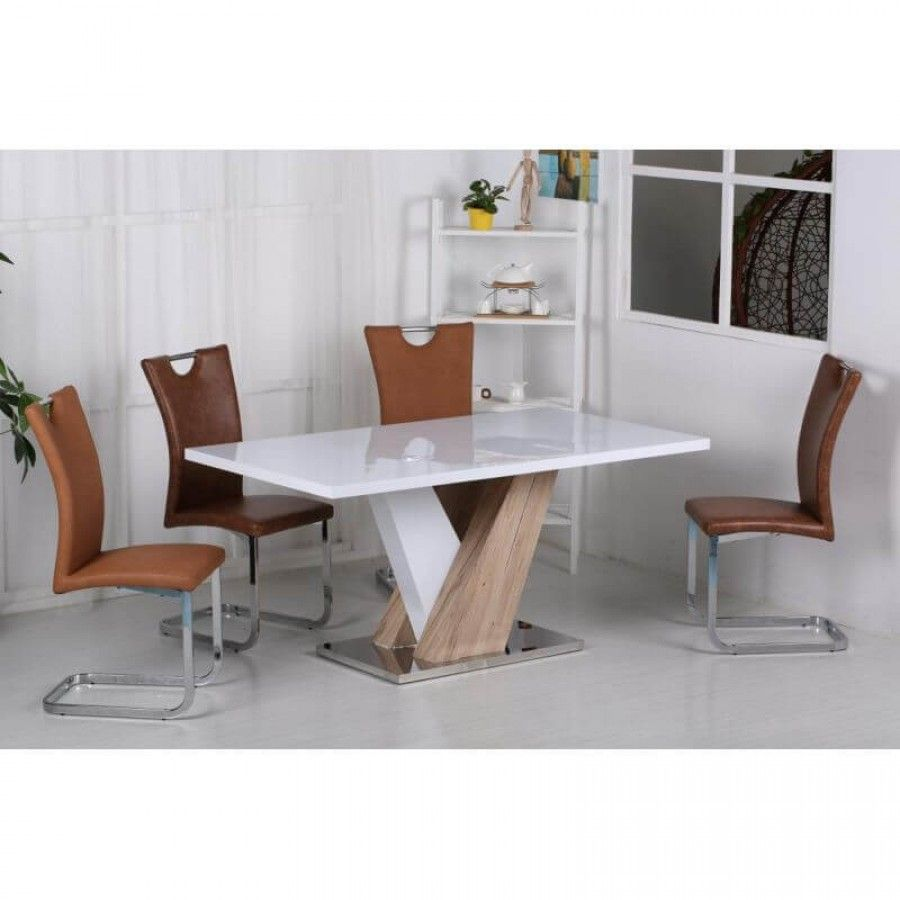 Inspirational White High Gloss Dining Tables