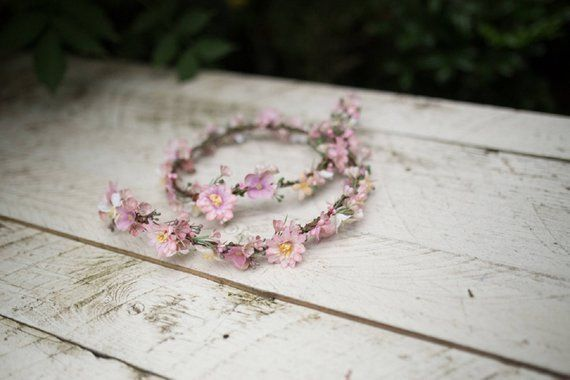 Flower Hair Garland Wedding Hair Flowers Head Wreath Flower Crown Cherry Blossom #flowerheadwreaths Flower Hair Garland Wedding Hair Flowers Head Wreath Flower Crown Cherry Blossom #flowerheadwreaths
