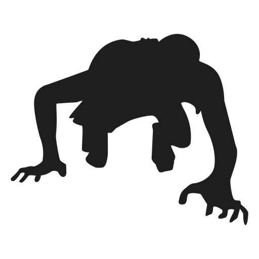 Zombie Crawling Silhouette Ad Affiliate Ad Silhouette Crawling Zombie Business Card Template Word Zombie Silhouette Png