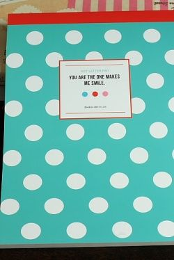 Photo1: Kawaii Letter Pad - Dot (72 sheets)