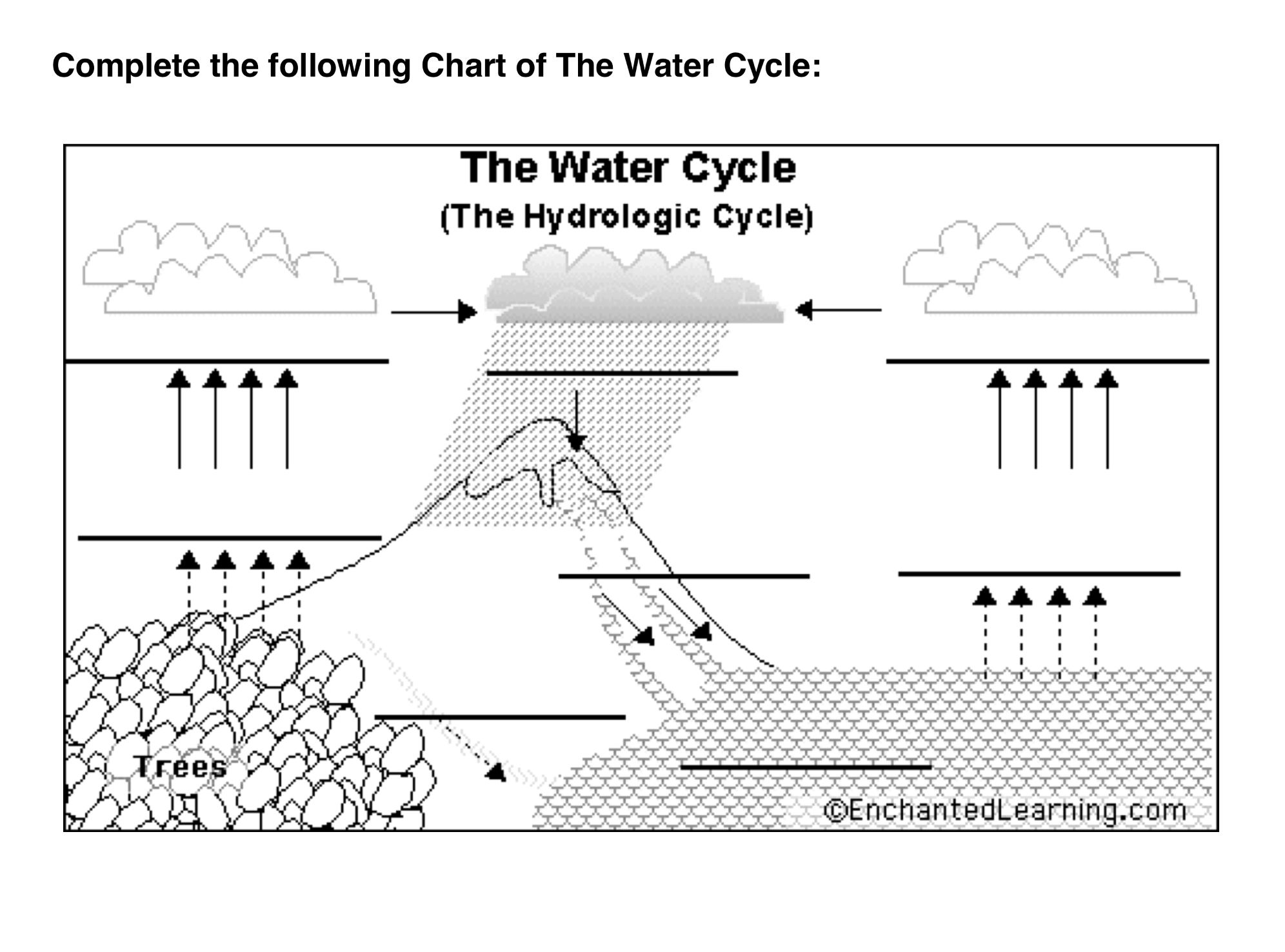 The Water Cycle - Worksheet 2 - Thursday, May 23, 2019 ...