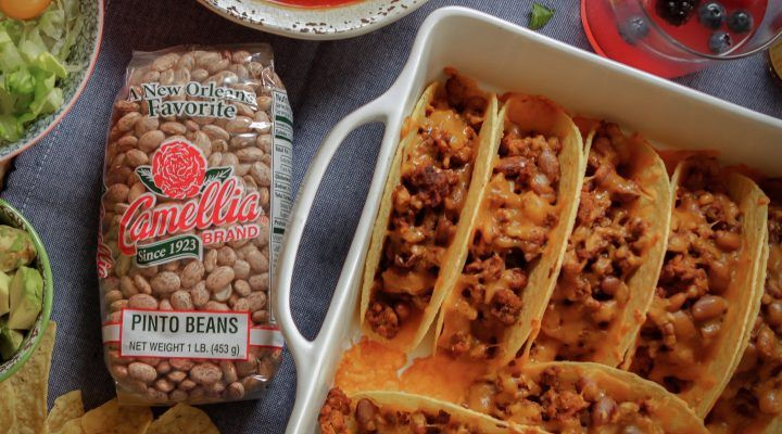 Classic Oven-Baked Beef & Pinto Bean Tacos