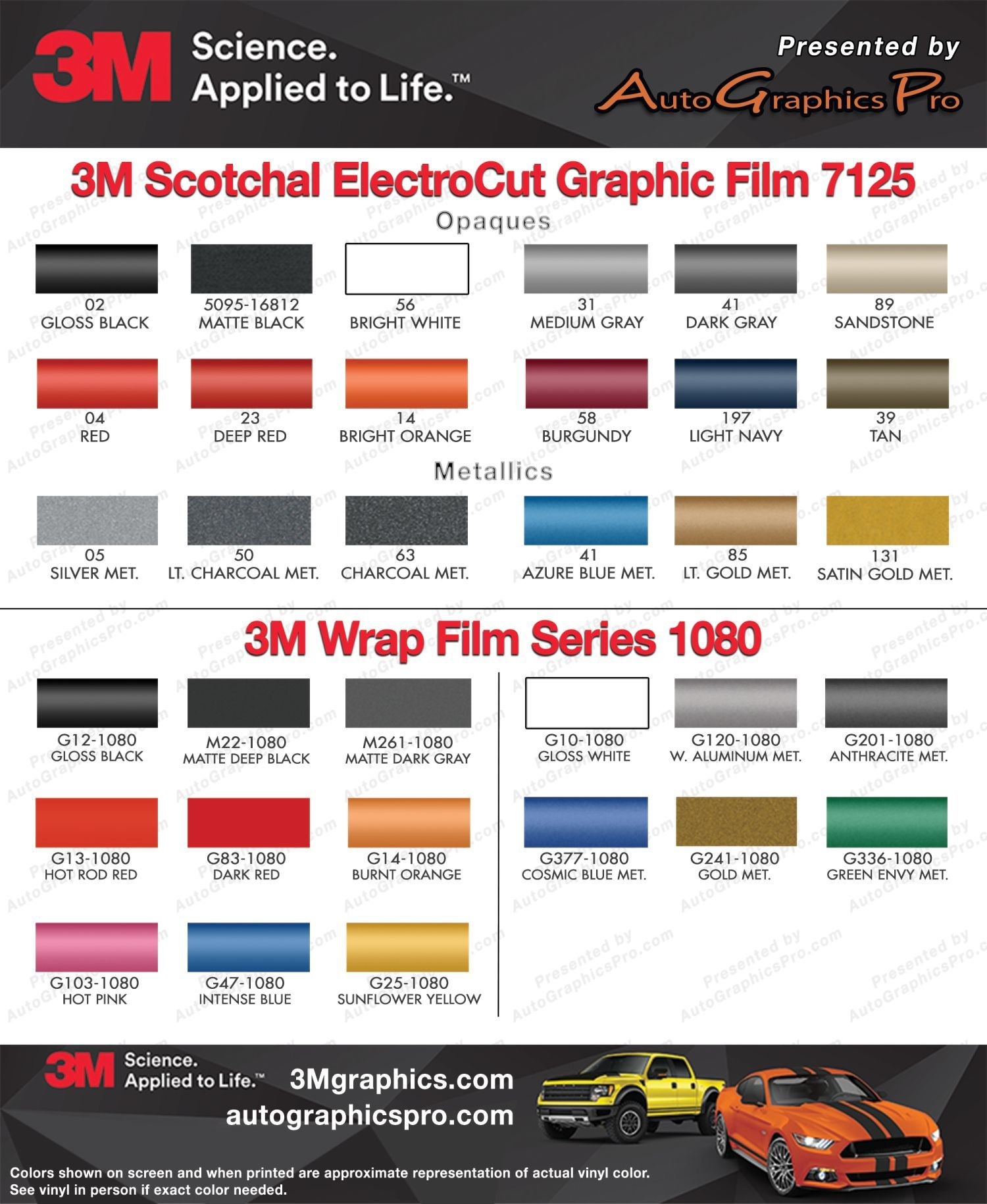 premium scotchcal and wrap series vinyl color chart also rh pinterest