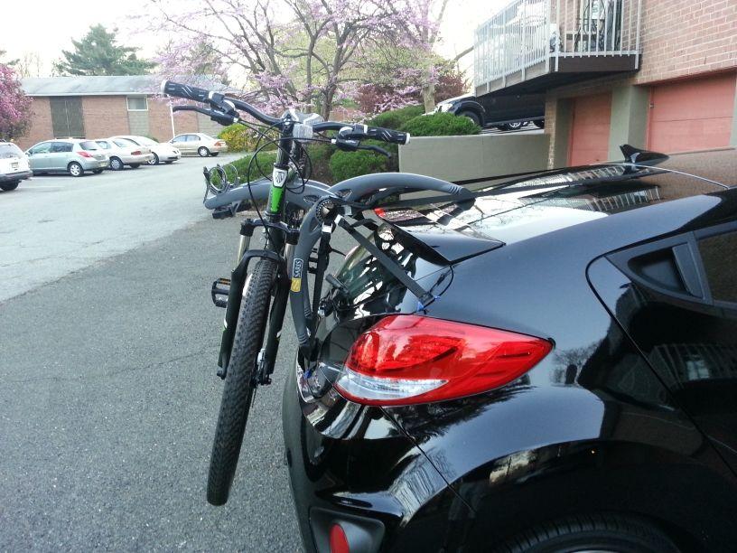 Hyundai Veloster Bike Rack hatchback Click image for