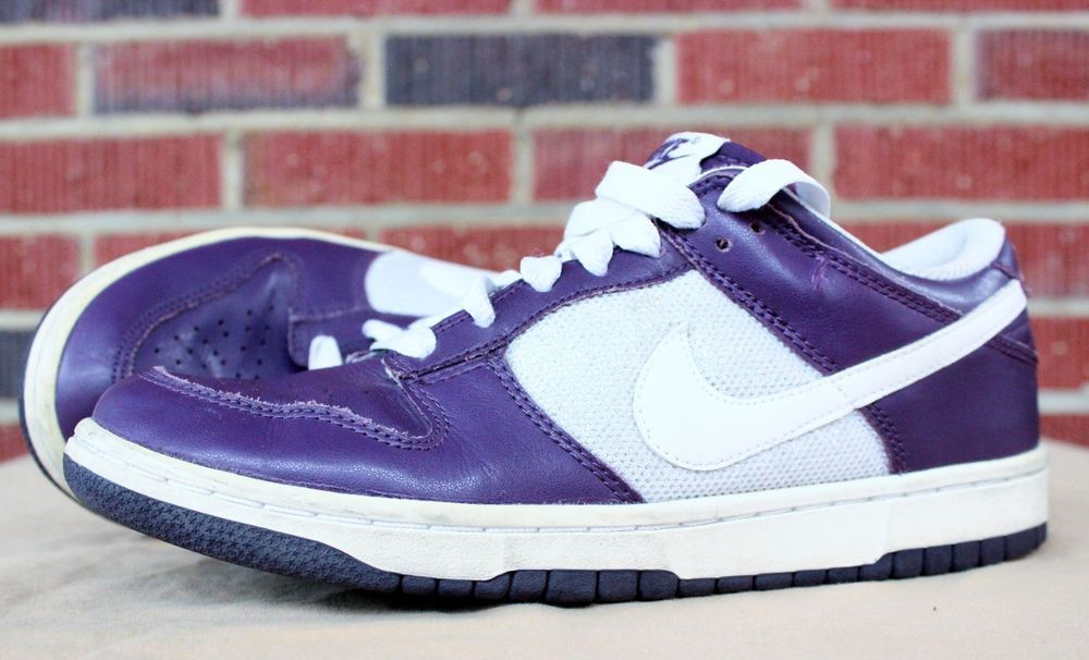 0d12902477 Nike Dunk Low Sneakers Shoes Sz 8 Womens Grand Purple White Silver 317815  511 #Nike #Sneakers