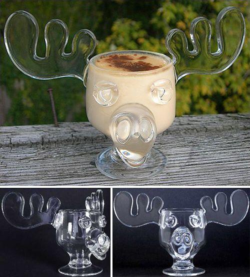 officially licensed national lampoons christmas vacation glass moose mug set of 2 - Christmas Vacation Moose Mug Set